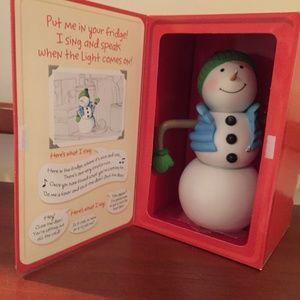 Hallmark Talking Refrigerator Snowman